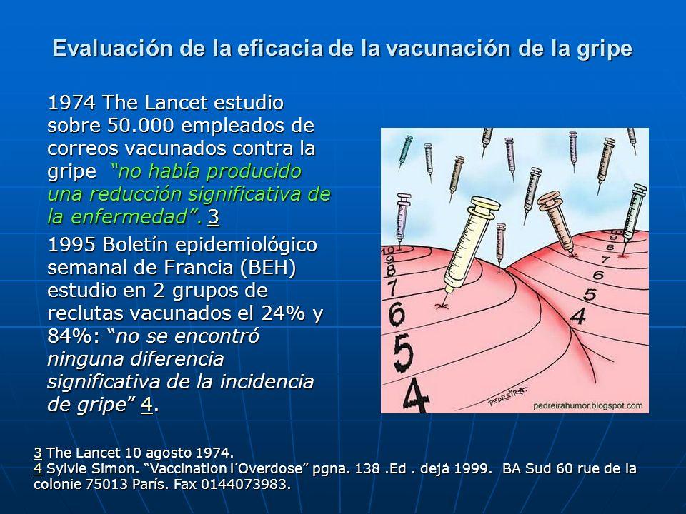 Evaluación de la eficacia de la vacunación de la gripe