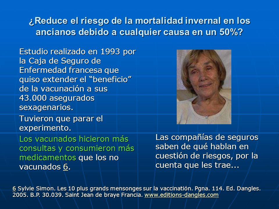 ¿Reduce el riesgo de la mortalidad invernal en los ancianos debido a cualquier causa en un 50%