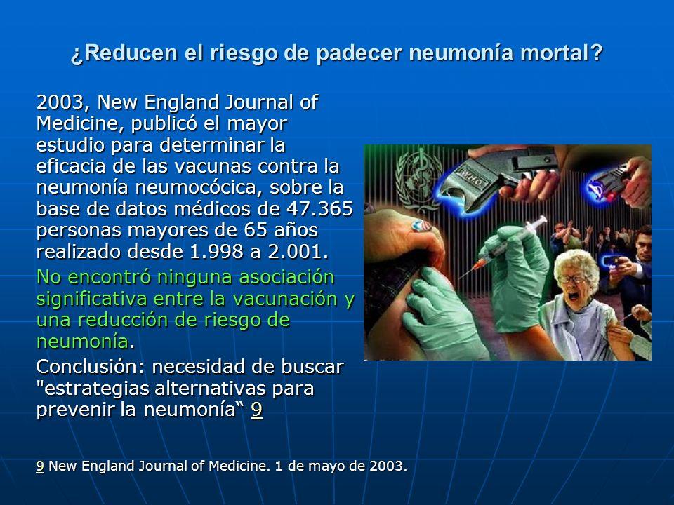 ¿Reducen el riesgo de padecer neumonía mortal