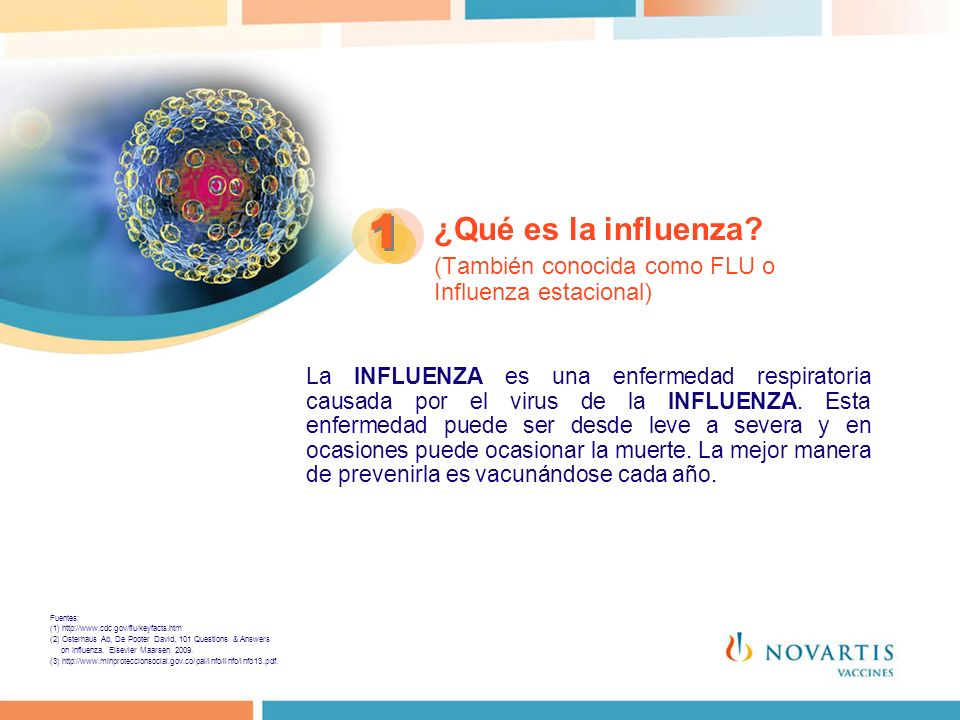 1 ¿Qué es la influenza (También conocida como FLU o Influenza estacional)