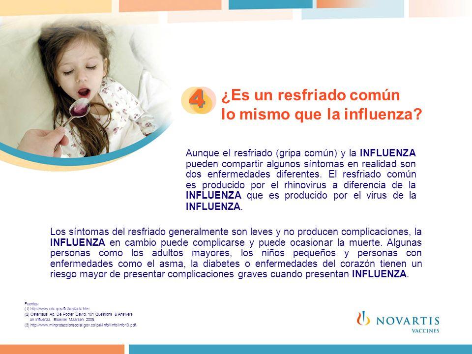 ¿Es un resfriado común lo mismo que la influenza