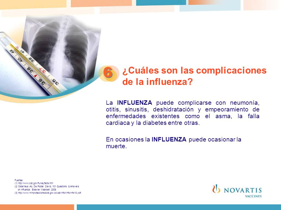 ¿Cuáles son las complicaciones de la influenza