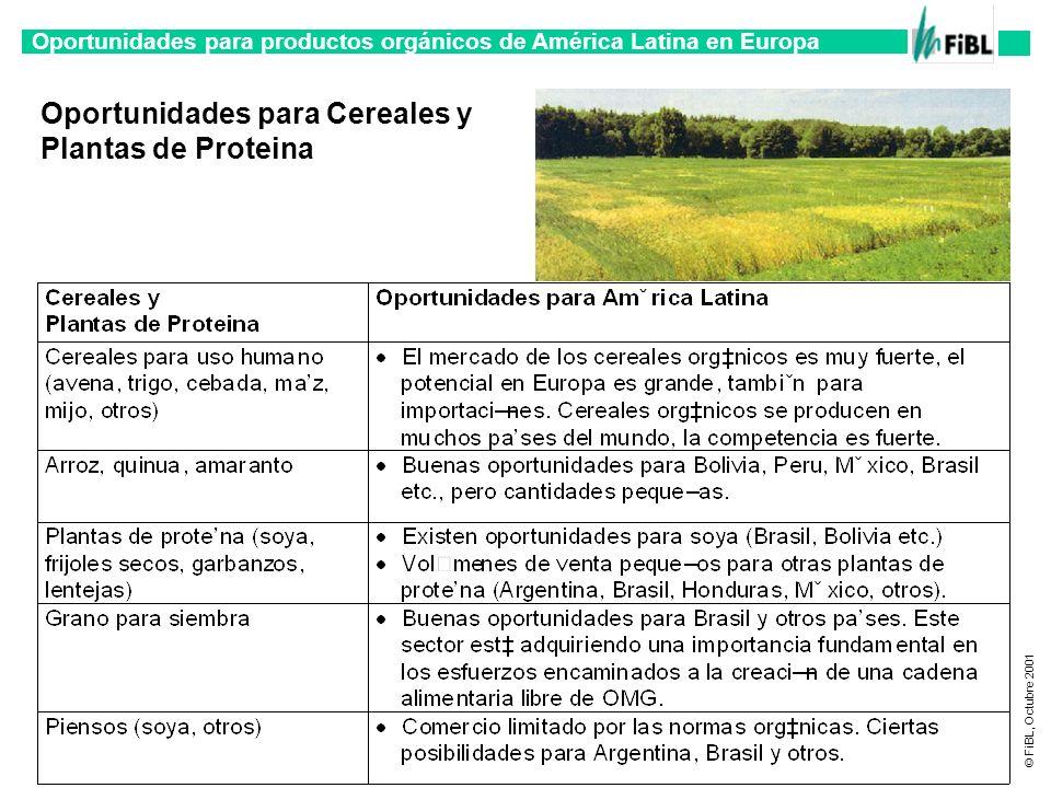 Oportunidades para Cereales y Plantas de Proteina