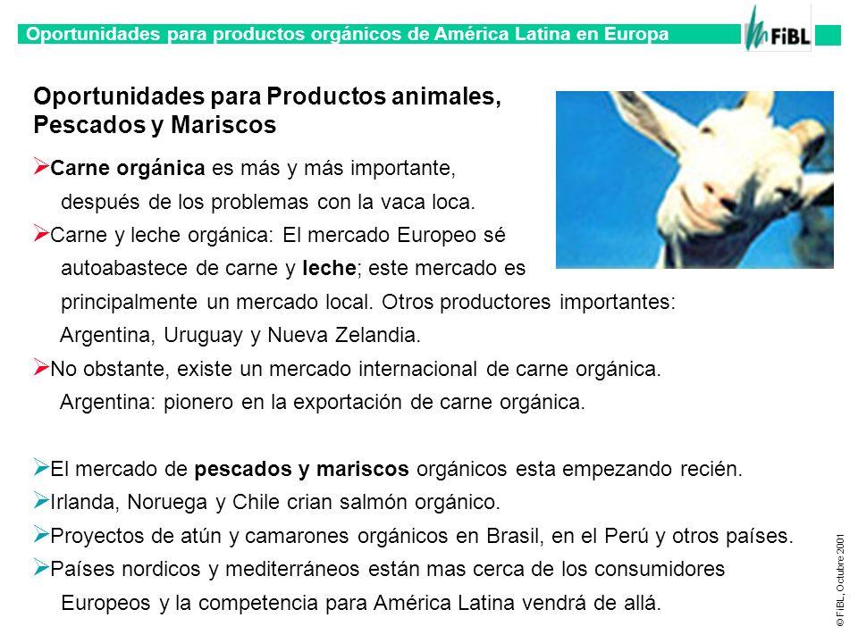 Oportunidades para Productos animales, Pescados y Mariscos