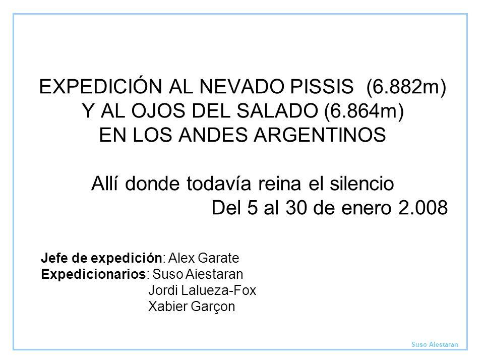EXPEDICIÓN AL NEVADO PISSIS (6. 882m) Y AL OJOS DEL SALADO (6