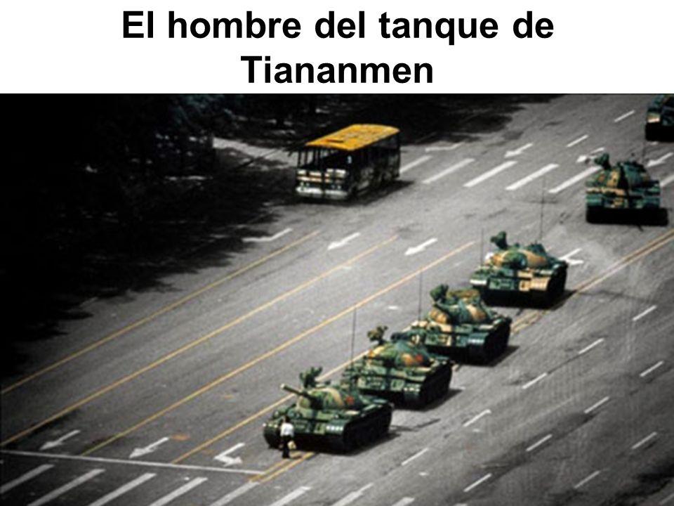El hombre del tanque de Tiananmen