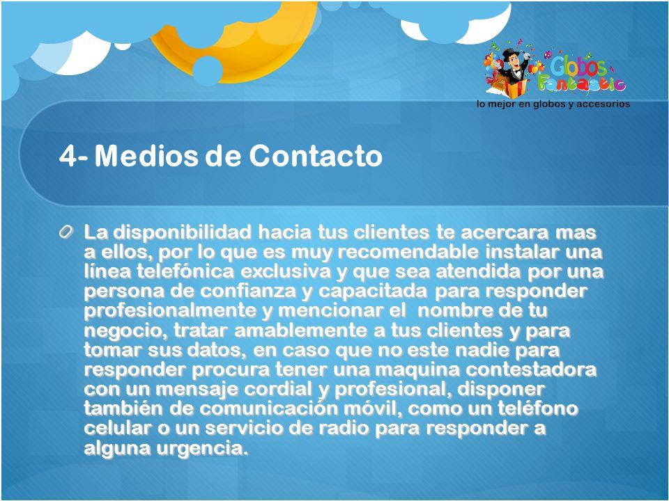 4- Medios de Contacto