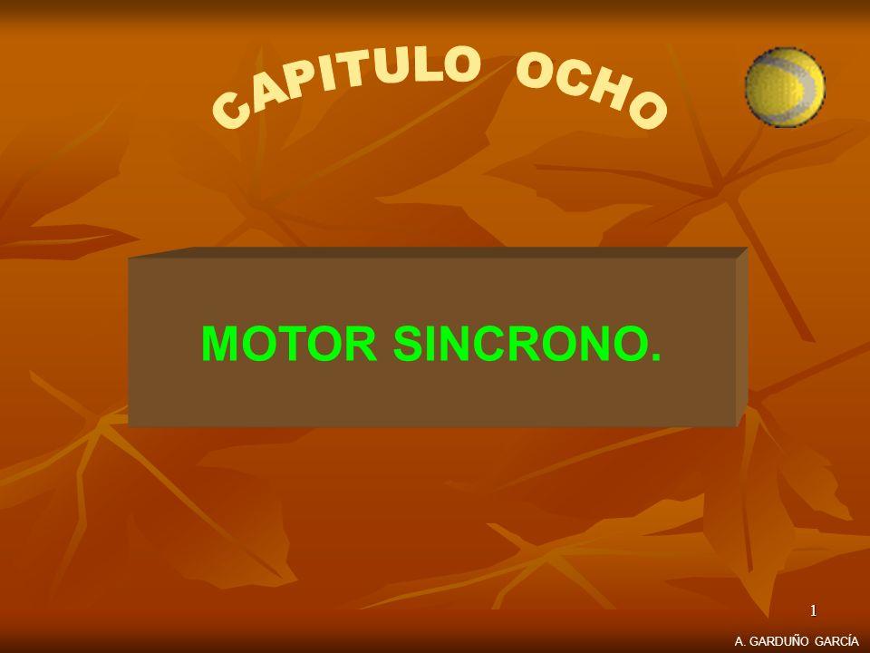 CAPITULO OCHO MOTOR SINCRONO. A. GARDUÑO GARCÍA