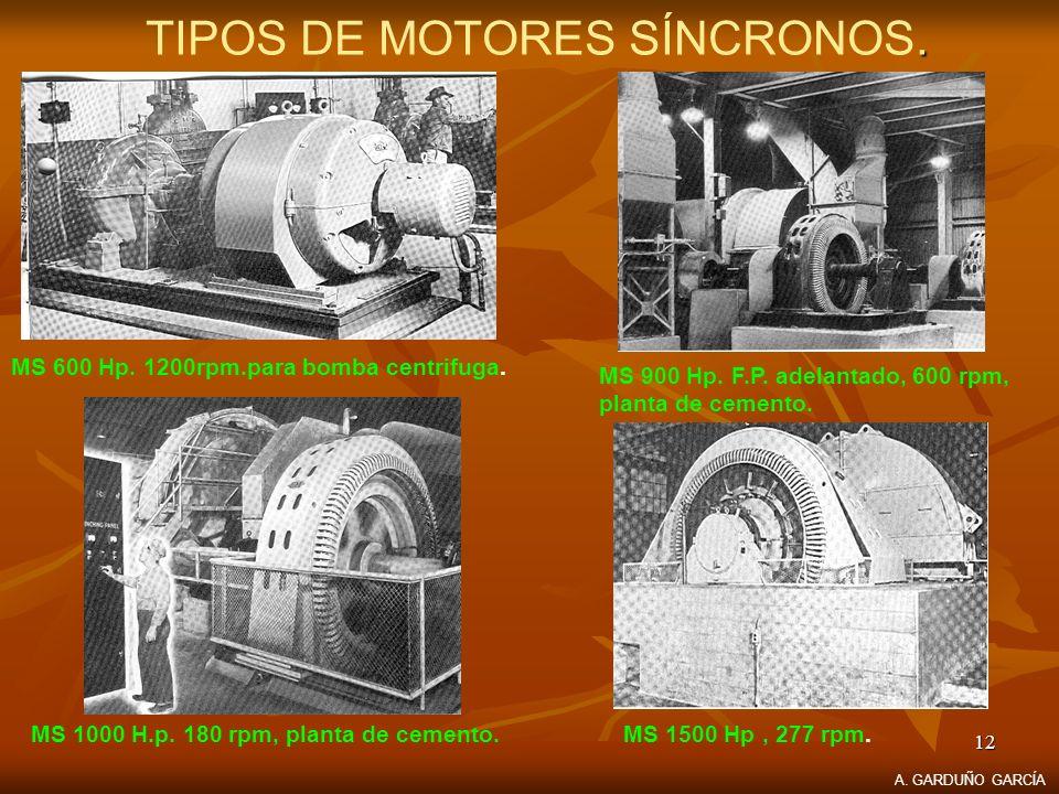 TIPOS DE MOTORES SÍNCRONOS.