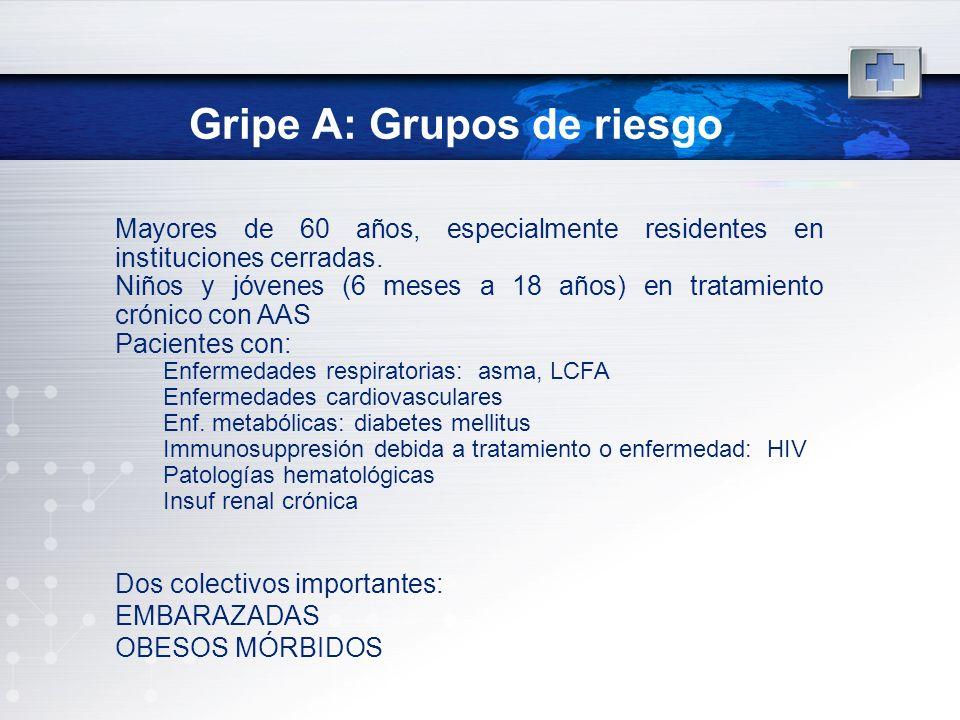 Gripe A: Grupos de riesgo
