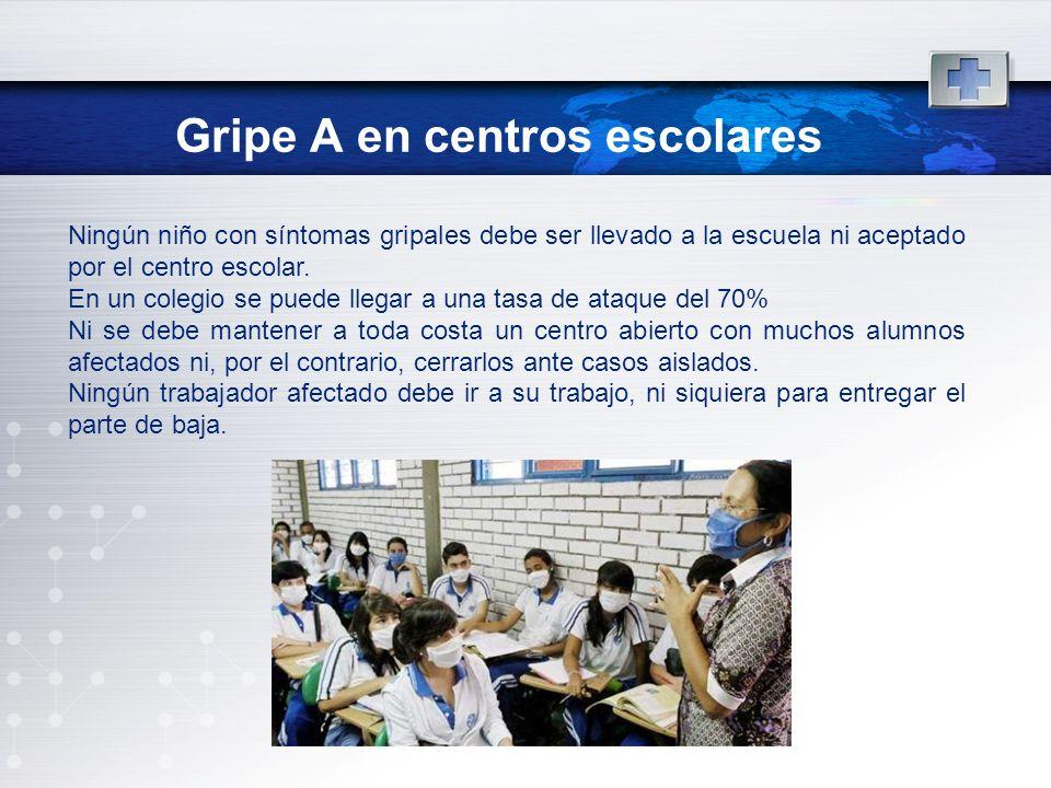 Gripe A en centros escolares