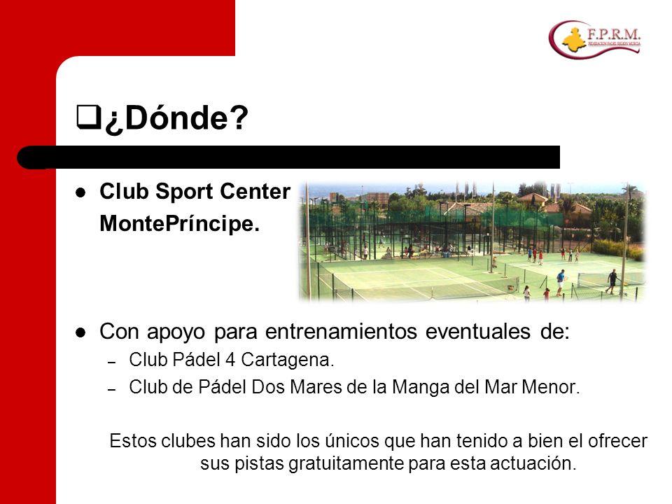 ¿Dónde Club Sport Center MontePríncipe.
