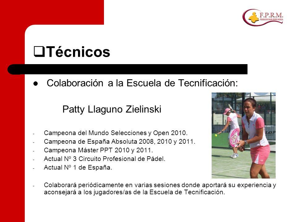 Técnicos Colaboración a la Escuela de Tecnificación: