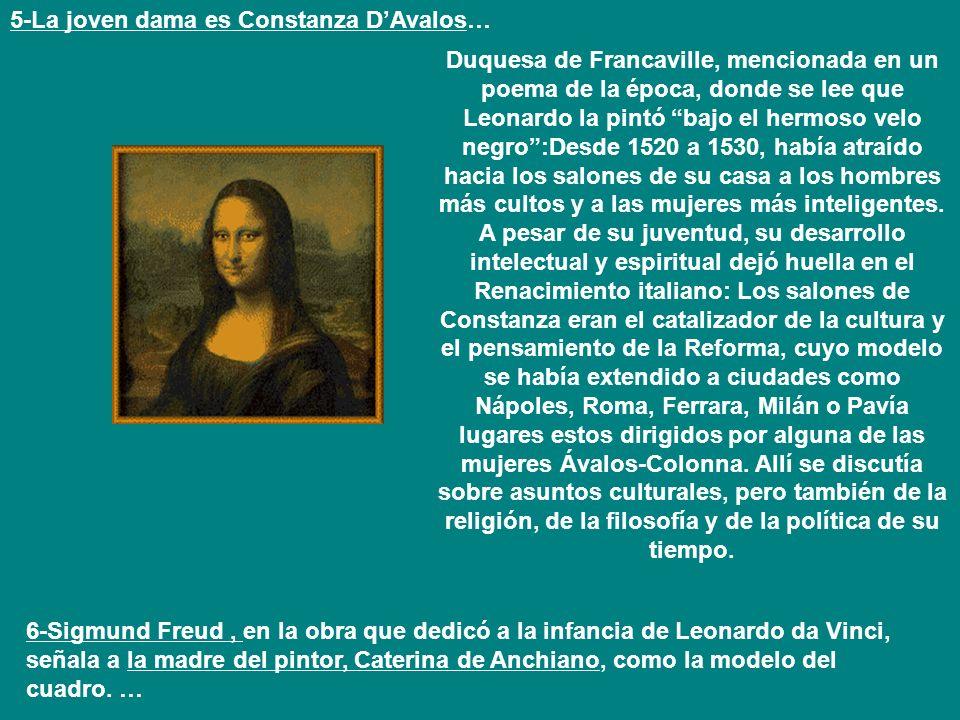 5-La joven dama es Constanza D'Avalos…