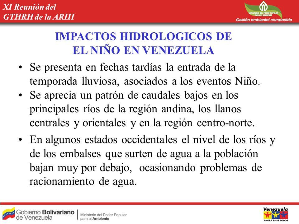 IMPACTOS HIDROLOGICOS DE EL NIÑO EN VENEZUELA