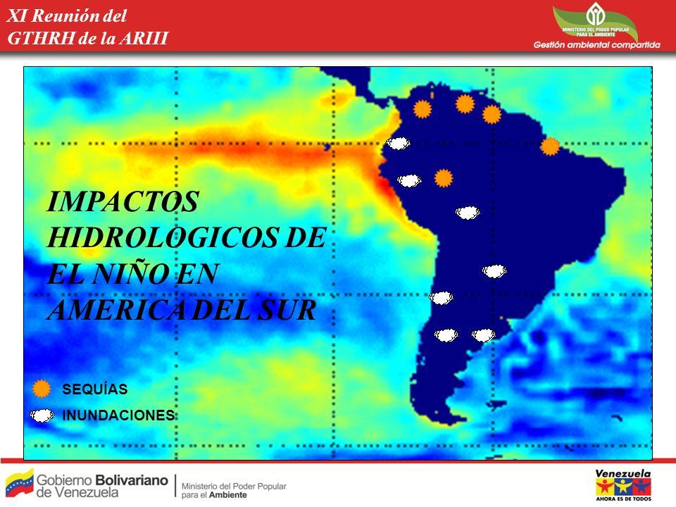 IMPACTOS HIDROLOGICOS DE EL NIÑO EN AMERICA DEL SUR