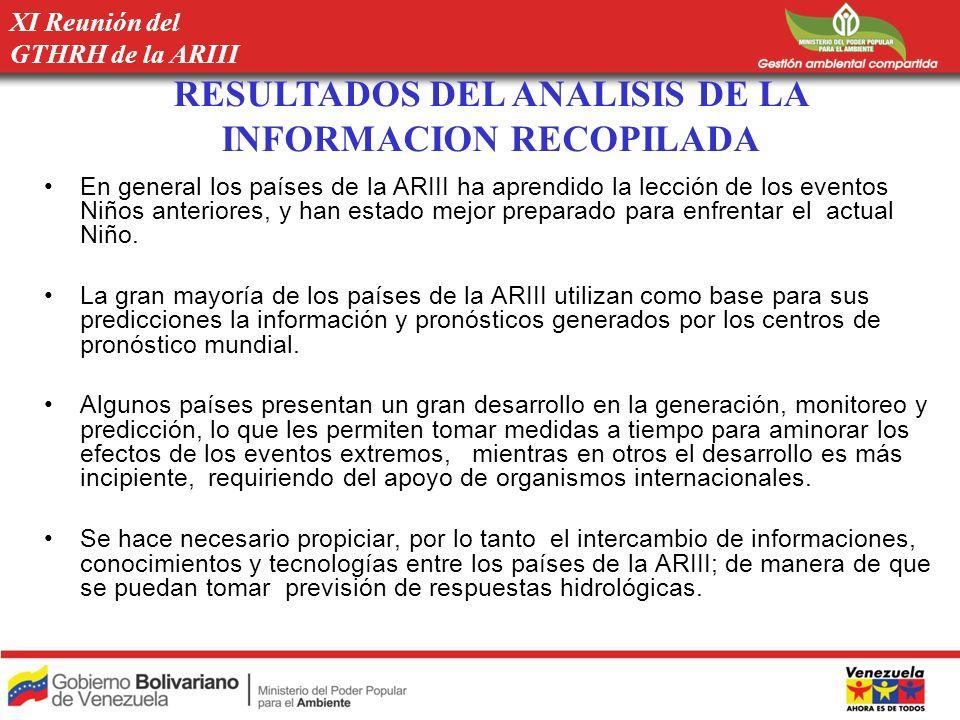 RESULTADOS DEL ANALISIS DE LA INFORMACION RECOPILADA