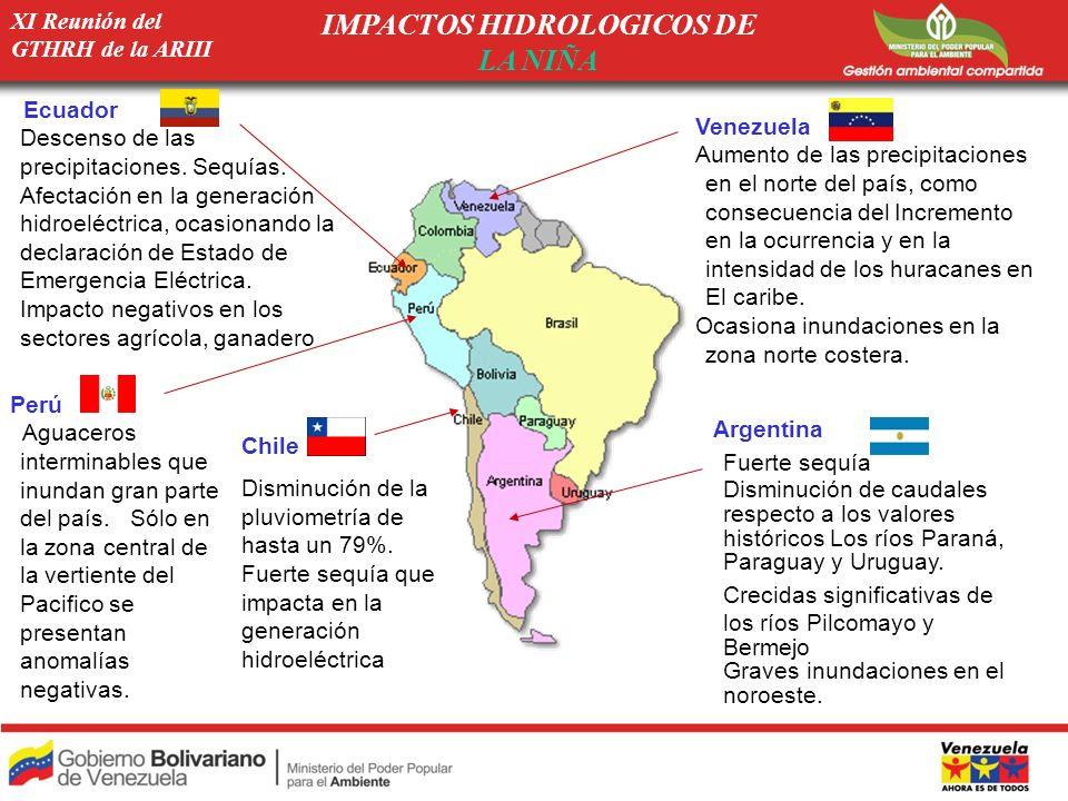 IMPACTOS HIDROLOGICOS DE LA NIÑA