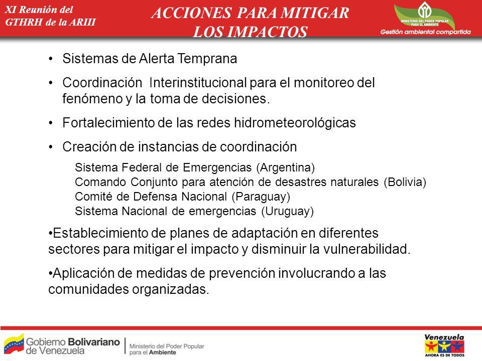 ACCIONES PARA MITIGAR LOS IMPACTOS