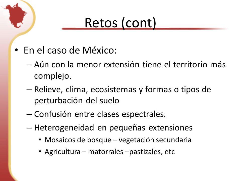 Retos (cont) En el caso de México: