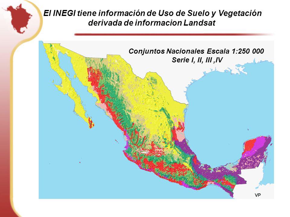 El INEGI tiene información de Uso de Suelo y Vegetación