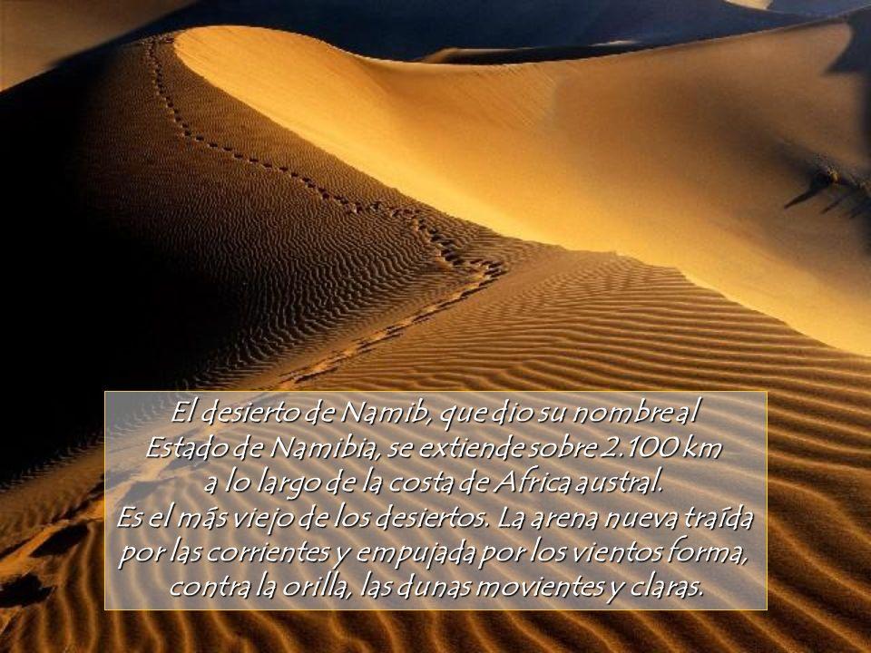 El desierto de Namib, que dio su nombre al