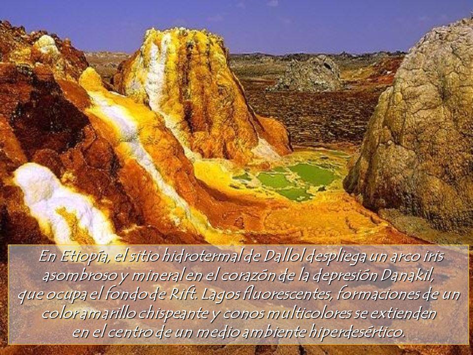 En Etiopía, el sitio hidrotermal de Dallol despliega un arco iris