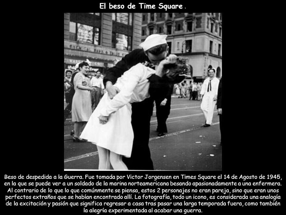 El beso de Time Square .
