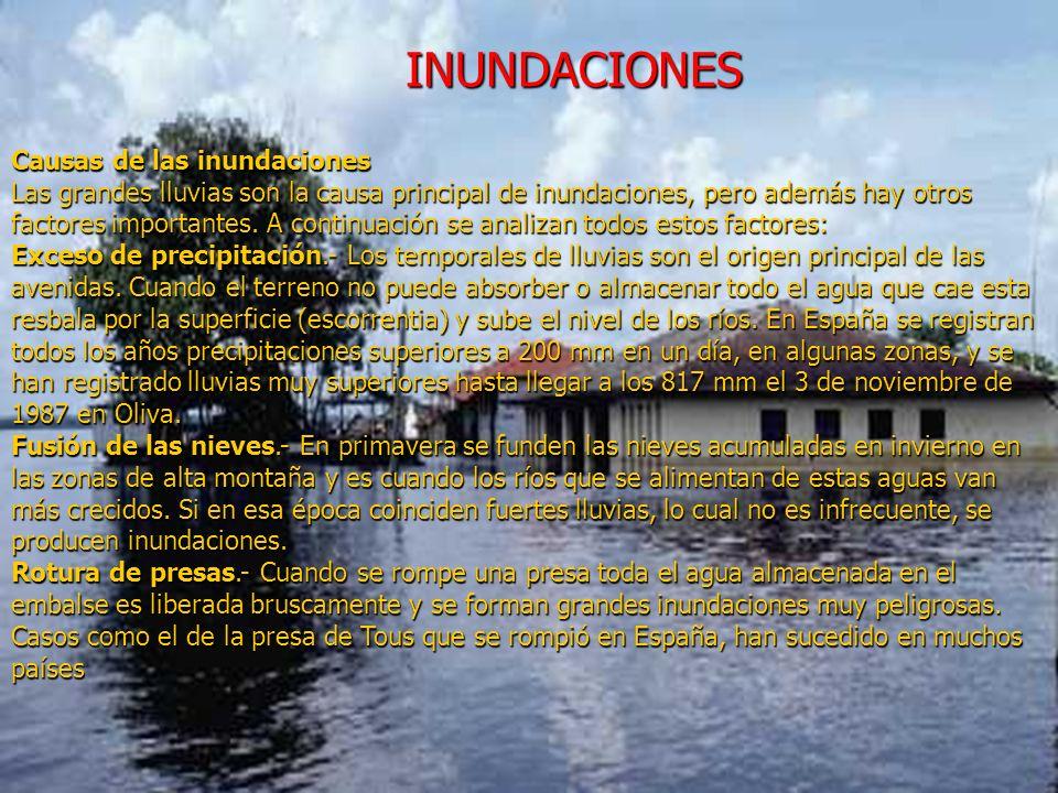 INUNDACIONES Causas de las inundaciones