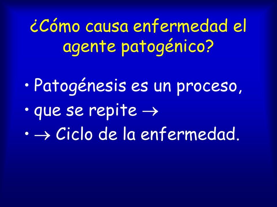 ¿Cómo causa enfermedad el agente patogénico