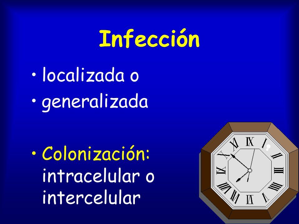 Infección localizada o generalizada