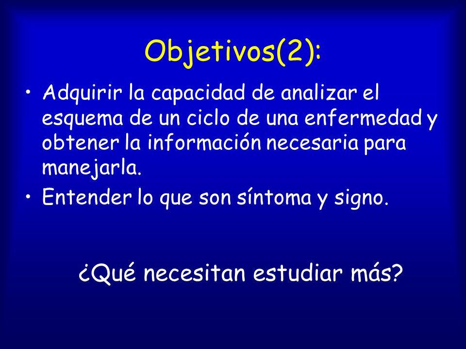 Objetivos(2): ¿Qué necesitan estudiar más