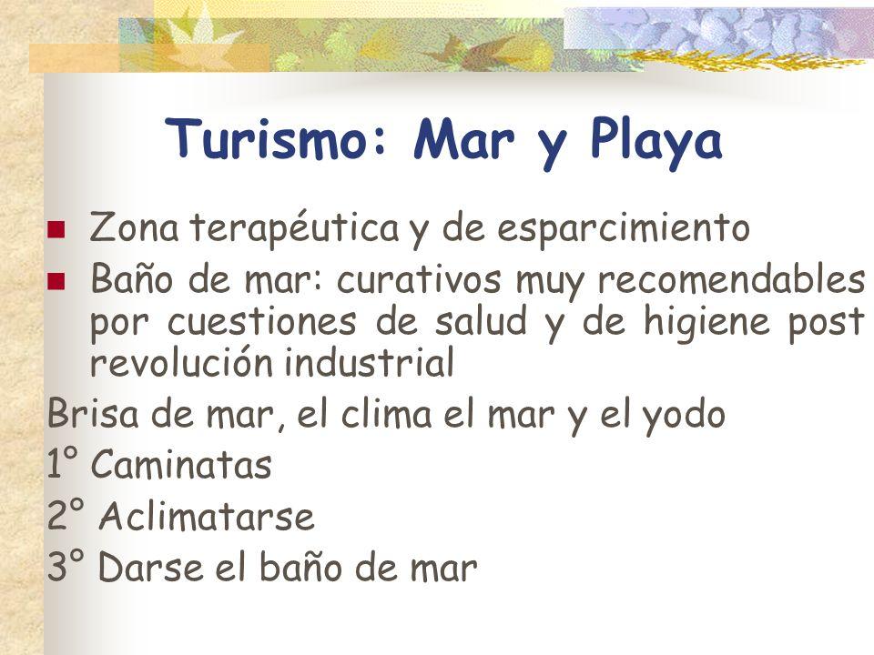 Turismo: Mar y Playa Zona terapéutica y de esparcimiento