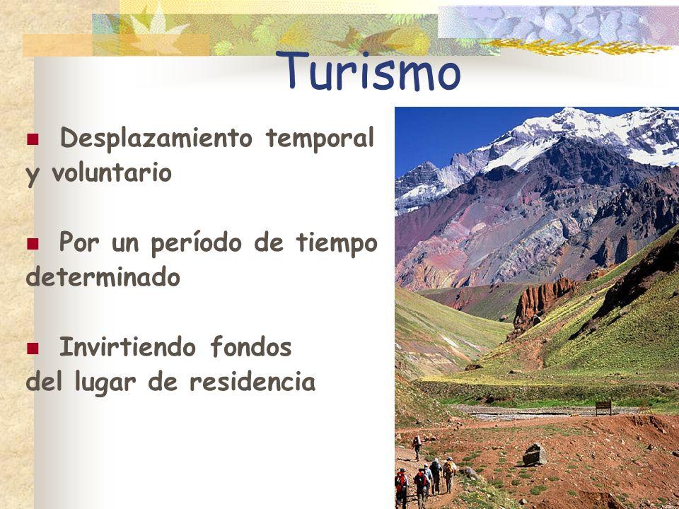 Turismo Desplazamiento temporal y voluntario Por un período de tiempo