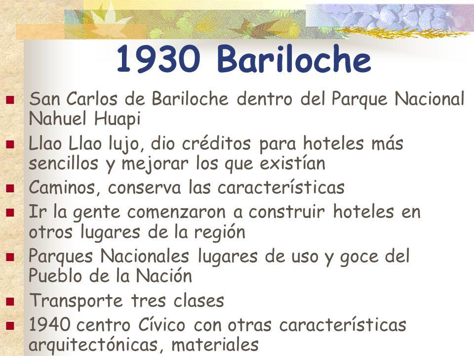 1930 Bariloche San Carlos de Bariloche dentro del Parque Nacional Nahuel Huapi.