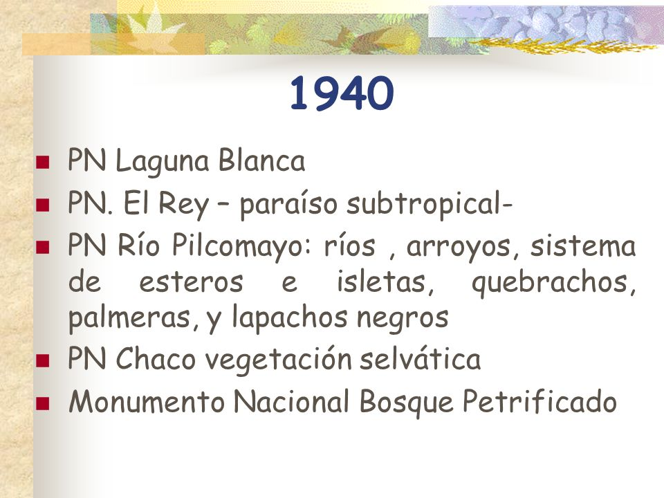 1940 PN Laguna Blanca PN. El Rey – paraíso subtropical-