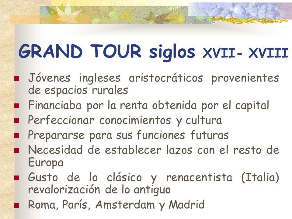 GRAND TOUR siglos XVII- XVIII