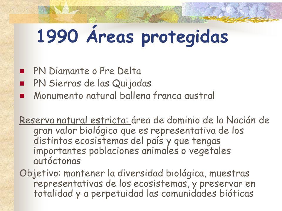 1990 Áreas protegidas PN Diamante o Pre Delta