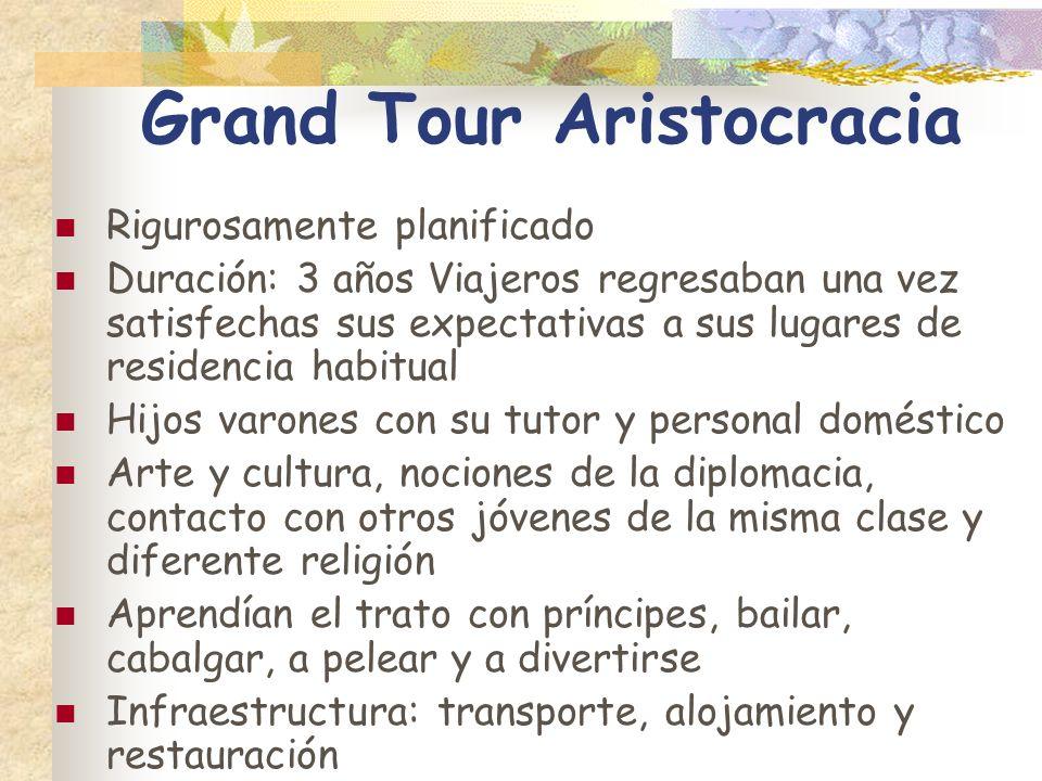 Grand Tour Aristocracia