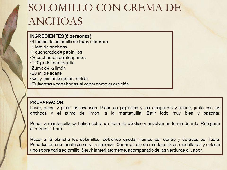 SOLOMILLO CON CREMA DE ANCHOAS