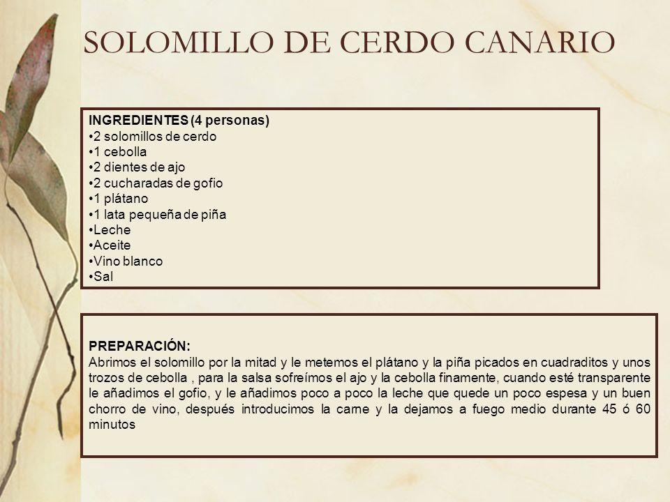 SOLOMILLO DE CERDO CANARIO
