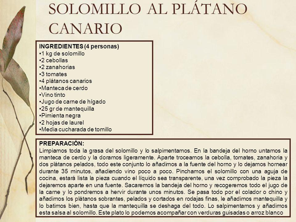 SOLOMILLO AL PLÁTANO CANARIO