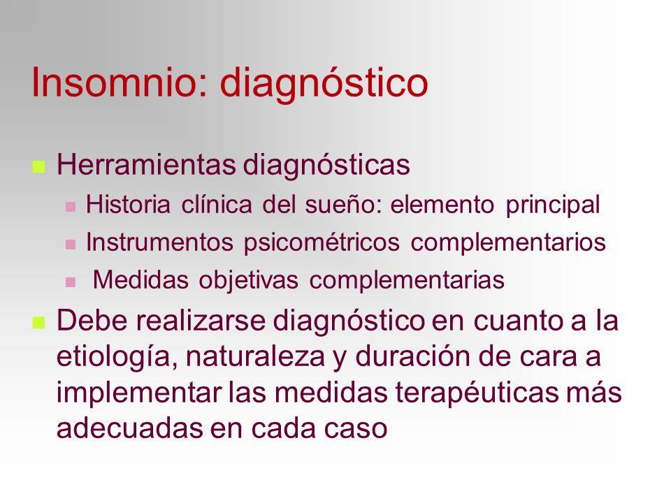 Insomnio: diagnóstico