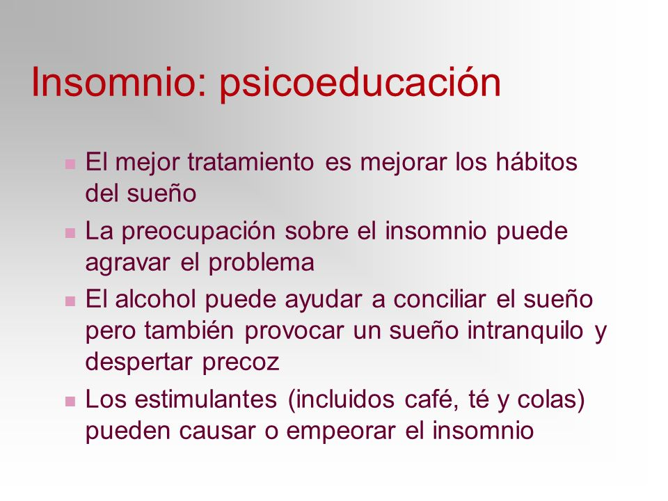 Insomnio: psicoeducación