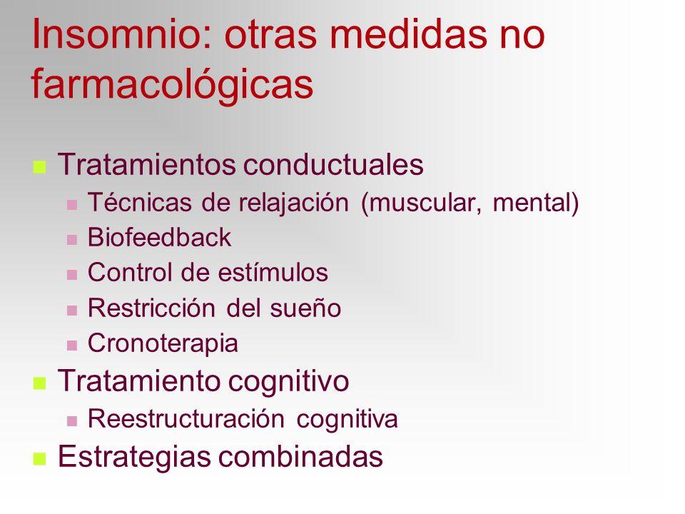 Insomnio: otras medidas no farmacológicas