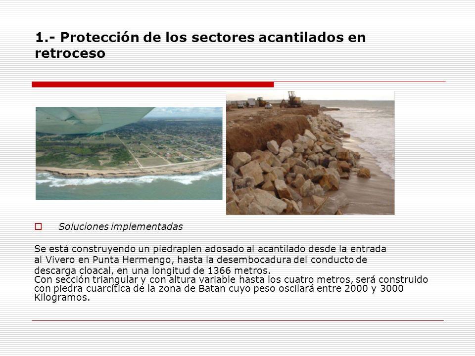 1.- Protección de los sectores acantilados en retroceso