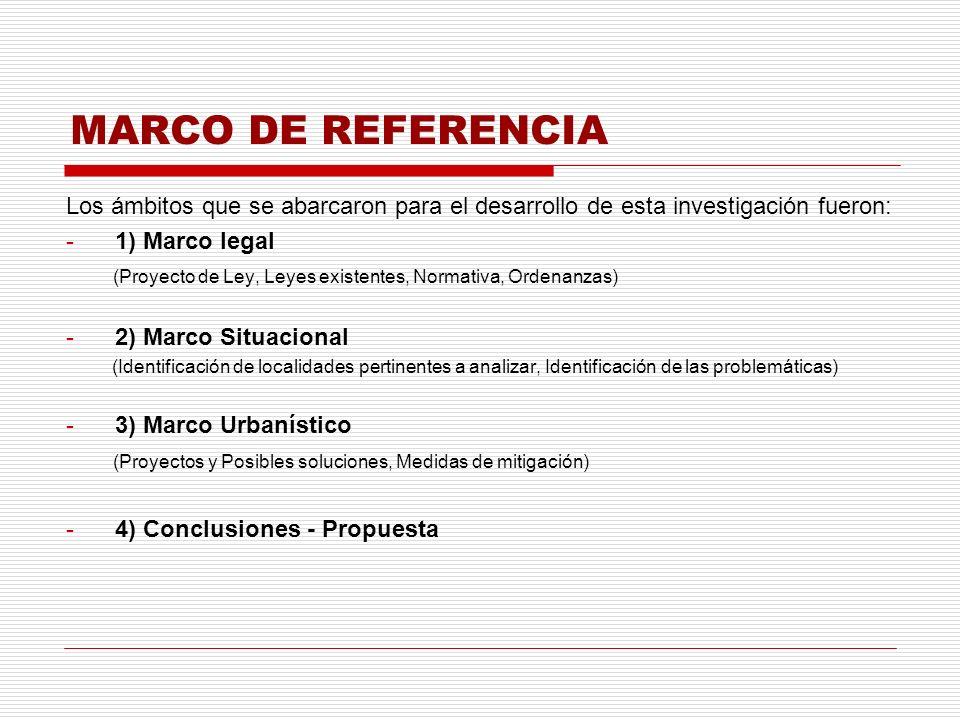MARCO DE REFERENCIA Los ámbitos que se abarcaron para el desarrollo de esta investigación fueron: 1) Marco legal.