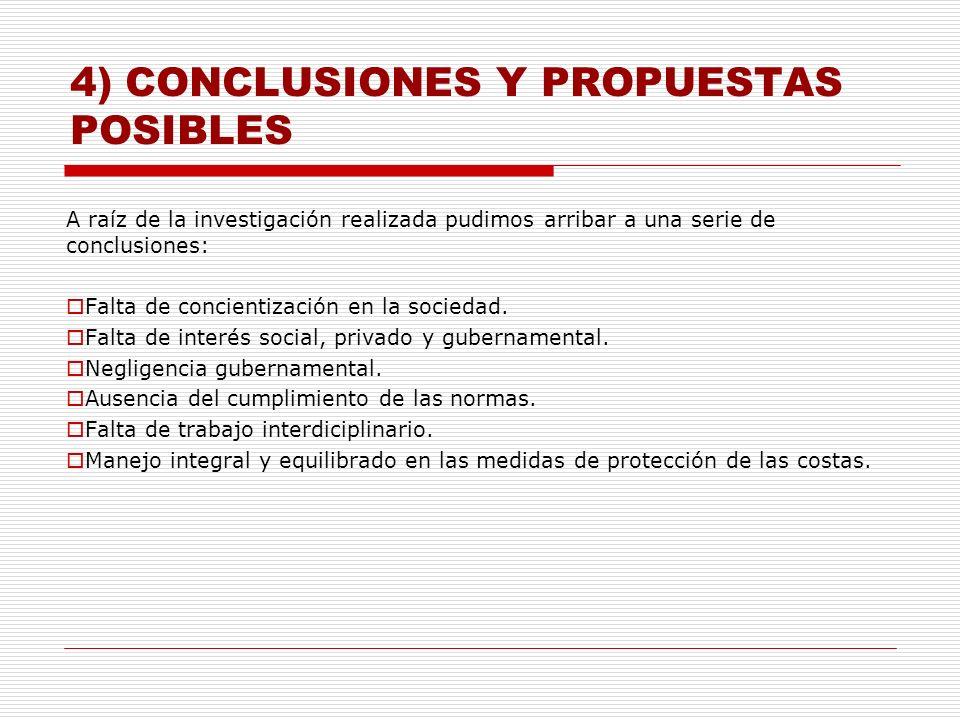 4) CONCLUSIONES Y PROPUESTAS POSIBLES