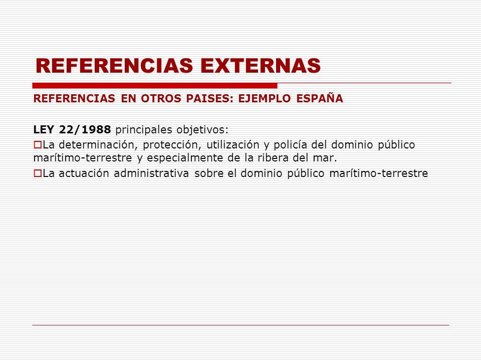 REFERENCIAS EXTERNAS REFERENCIAS EN OTROS PAISES: EJEMPLO ESPAÑA