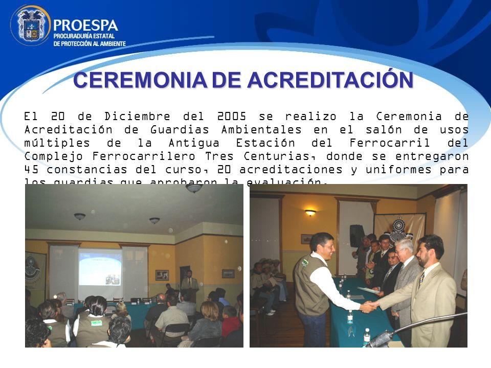 CEREMONIA DE ACREDITACIÓN